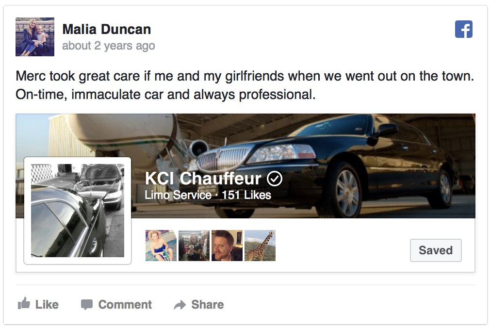 Facebook review malia duncan